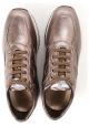 Hogan Zapatillas para mujer en piel de becerro laminada marrón