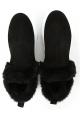 Hogan Botines de tobillo para mujer en gamuza negra con piel sintética