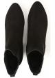 Hogan Botines de tacón para mujer zapatos en piel de ante negra