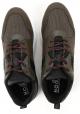 Hogan INTERACTIVE3 Zapatillas de hombre en piel marrón y tejido mimético