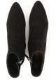 Tod's CUOIO STIV Botines de gamuza negra para mujer con puntera afilada y tacón bajo