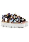 MSGM cuñas sandalias zapatos en tela multicolor