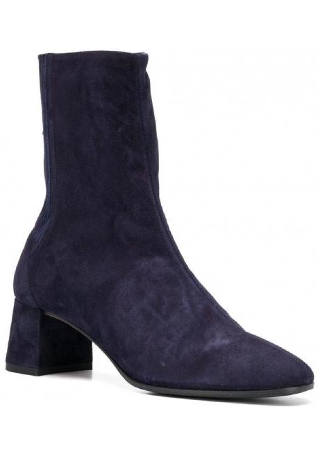 9ba4c05a Aquazzura Botines de tobillo con tacón cuadrado para mujer en gamuza azul