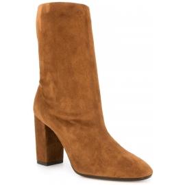 Aquazzura Botas de media pantorrilla para mujer en gamuza marrón claro
