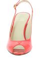 Stuart Weitzman Sandalias de tacón aguja para mujer en charol rojo brillante