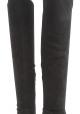 Sergio Rossi Botas altas hasta la rodilla para mujer en gamuza negra con tacón de aguja