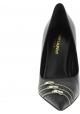 Saint Laurent Zapatos puntiagudos con tacones de aguja mujer en piel negra