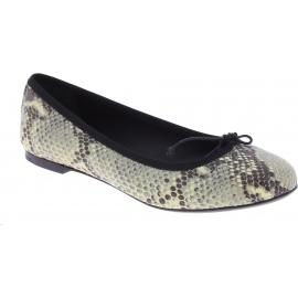 Saint Laurent Zapatos bailarinas de moda para mujer en piel de pitón gris