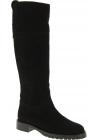 Dolce&Gabbana Botas tacón corto de rodilla para mujeres en gamuza negra