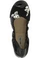 Miu Miu Zapatos bailarinas con piedras para mujer en piel brillante negra