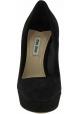 Miu Miu Zapatos de mujeres de tacón de aguja en terciopelo negro y joyas