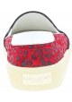Saint Laurent Zapatos de meter estampado de leopardo para mujer en piel roja