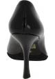 Miu Miu Zapatos puntiagudos tacón de carrete de mujer piel brillante negra