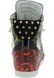 Barbara Bui Zapatillas altas tachonadas de mujer en piel de reptil multicolor