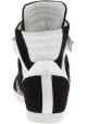 Barbara Bui Zapatillas altas para mujer en cuero de gamuza negro y blanco