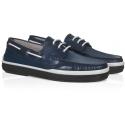 Barco de zapatos hombres de Tod de cuero azul