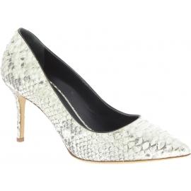 Giuseppe Zanotti Zapatos con tacones de aguja de mujer piel de pitón platino