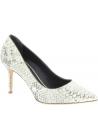 Zanotti Zapatos con tacones de aguja de mujer piel de pitón platino