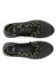 Fendi zapatos sin cordones zapatillas de deporte de cuero negro