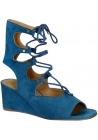 Cuña baja de Chloé zapatos de tacón sandalias en cuero de ante en el extranjero