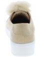 Steve Madden Zapatillas sin cordones para mujer en gamuza beige con piel