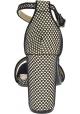 Steve Madden Sandalias de tacón alto con hebilla para mujer en tejido negro