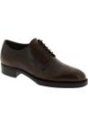 Prada Zapatos oxford con cordones para mujeres en piel de becerro marrón