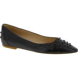Tod's Zapatillas de ballet con punta tachonadas para mujer en piel negra